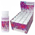 SUNSHOT Tan & Beauty Drink Display 24x 60 ml (neue Rezeptur)